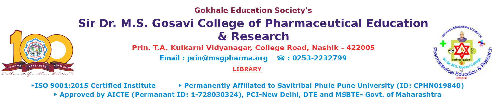 M.S.G. Pharmaceuticals & Research Library